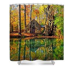 Grist Mill Shower Curtain by Geraldine DeBoer