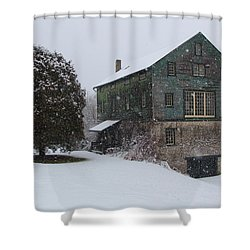 Grist Mill Of Port Hope Shower Curtain by Davandra Cribbie