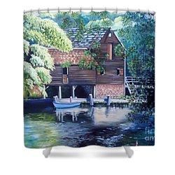 Grist Mill Philipsburg N Y Shower Curtain