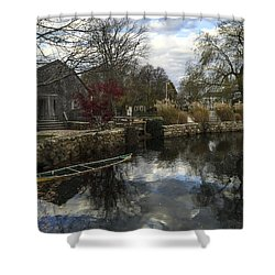 Grist Mill Sandwich Massachusetts Shower Curtain
