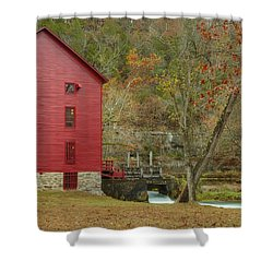 Grist Mill Wtrees Shower Curtain