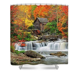 Old Mill In Color  Shower Curtain
