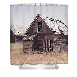 Grizzled Acres In Color Shower Curtain
