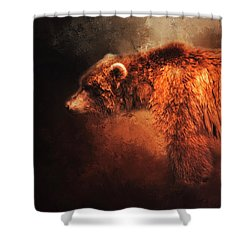 Shower Curtain featuring the photograph Grizzly Bear  by Toni Hopper