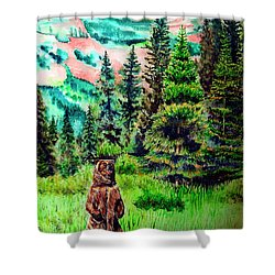 Grizzly Country Shower Curtain by Tracy Rose Moyers