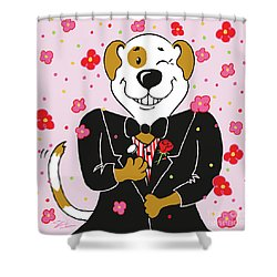 Groom Dog Shower Curtain