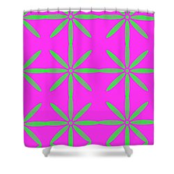 Groovy Flowers Shower Curtain