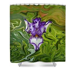 Groovy Purple Iris Shower Curtain