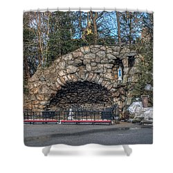 Grotto At Notre Dame University Shower Curtain