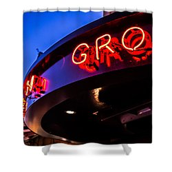 Grotto - Night View Shower Curtain