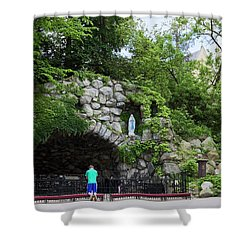 Grotto Of Our Lady Of Lourdes Shower Curtain