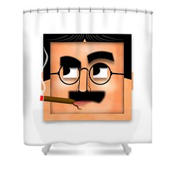 Groucho Marx Blockhead Shower Curtain by John Wills
