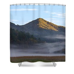 Ground Fog In Cataloochee Valley - October 12 2016 Shower Curtain