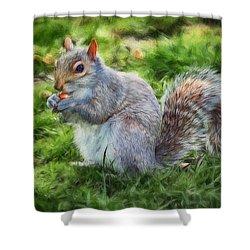 Shower Curtain featuring the photograph Ground Squirrel by Pennie  McCracken
