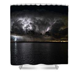 Ground Strike Shower Curtain by Justin Johnson