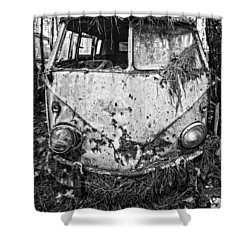 Grounded Vw Bus Shower Curtain