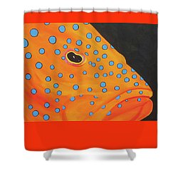 Grouper Head Shower Curtain by Anne Marie Brown