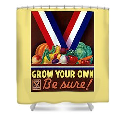 Grow Your Own Victory Garden Shower Curtain by War Is Hell Store