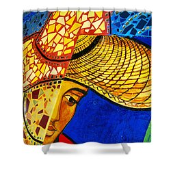 Growing Edgewater Mosaic Shower Curtain
