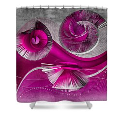 Growing Flowers With Music Pink Shower Curtain