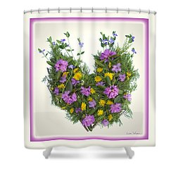 Shower Curtain featuring the digital art Growing Heart by Lise Winne
