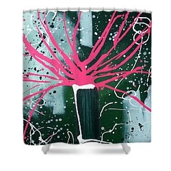Growing In The City Shower Curtain by Pearlie Taylor