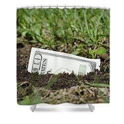 Growing Money Shower Curtain by Mats Silvan