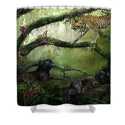 Growing Wild Shower Curtain by Carol Cavalaris