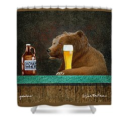 Growlers Shower Curtain by Will Bullas