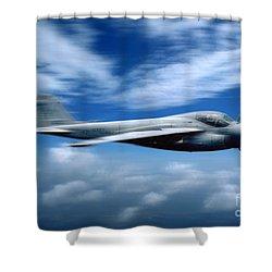 Flight Of The Intruder, Grumman A-6 Shower Curtain by Wernher Krutein