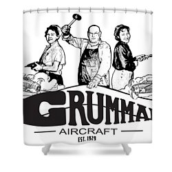 Grumman Aircraft Est 1929 Shower Curtain