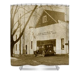 Grumman Baldwin Garage Shower Curtain