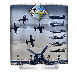 Grumman Blue Angels Cats Shower Curtain