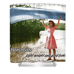 Grumman Canoe Shower Curtain