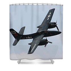 Grumman F7f-3n Tigercat Shower Curtain by Tommy Anderson