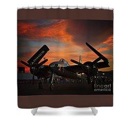 Grumman F7f Tigercat Fire Tiger Shower Curtain