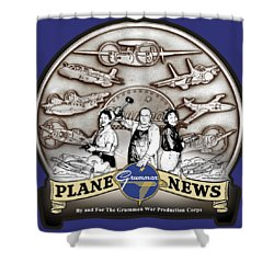 Grumman Plane News Shower Curtain