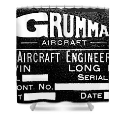 Grumman Product Plate Shower Curtain