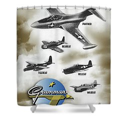 Grumman Ready When Needed Shower Curtain