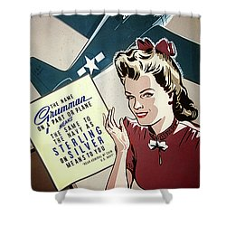 Grumman Sterling Poster Shower Curtain