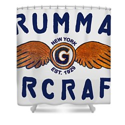 Grumman Wings Blue Shower Curtain