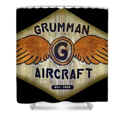 Grumman Wings Diamond Shower Curtain