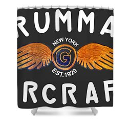 Grumman Wings Gold Shower Curtain