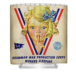Grumman Worker Sleeping Poster Shower Curtain