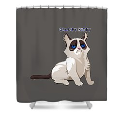 Grumpy Cat Shower Curtain