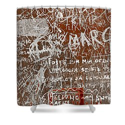 Grunge Background Shower Curtain by Carlos Caetano