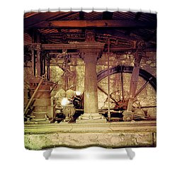 Grunge Cane Mill Shower Curtain