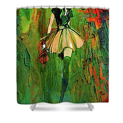 Grunge Doll Shower Curtain