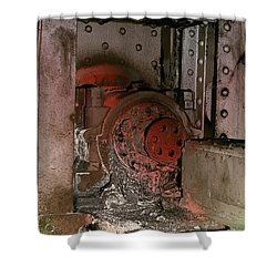 Shower Curtain featuring the photograph Grunge Gear Motor by Robert G Kernodle