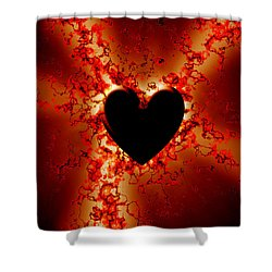 Grunge Heart Shower Curtain by Phill Petrovic